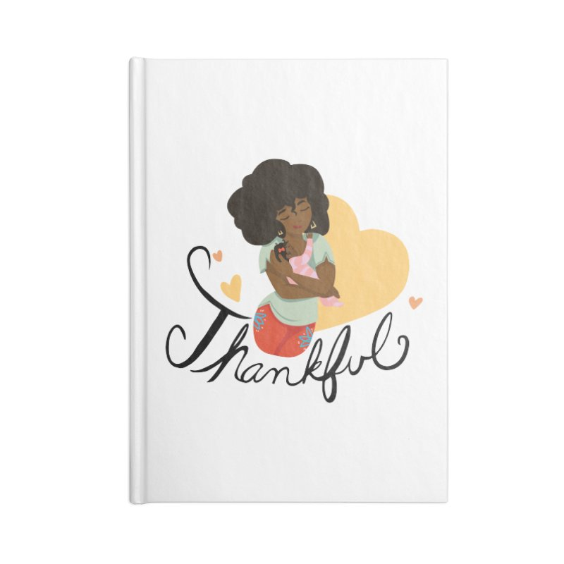 Tit for Tot - Thankful - African American Momma Accessories Blank Journal Notebook by Tit for Tot
