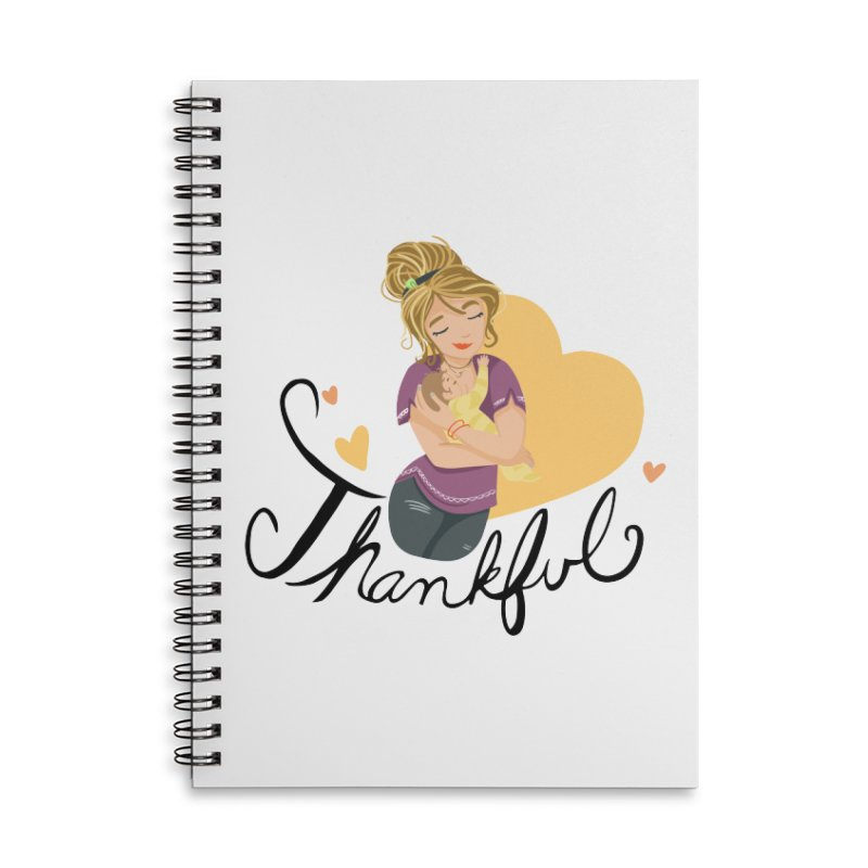 Tit for Tot - Thankful - Blonde Momma Accessories Lined Spiral Notebook by Tit for Tot