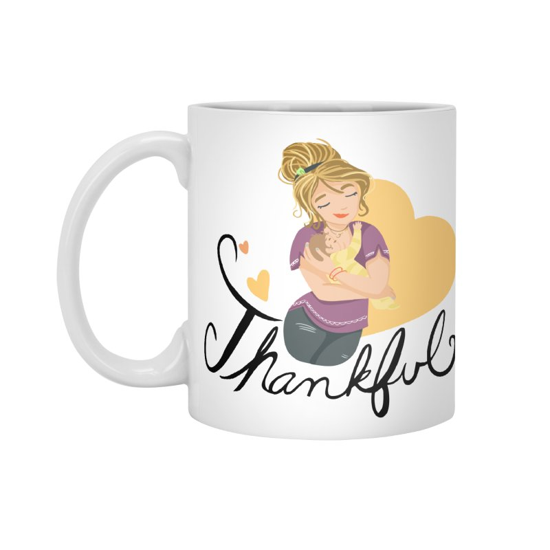 Tit for Tot - Thankful - Blonde Momma Accessories Standard Mug by Tit for Tot