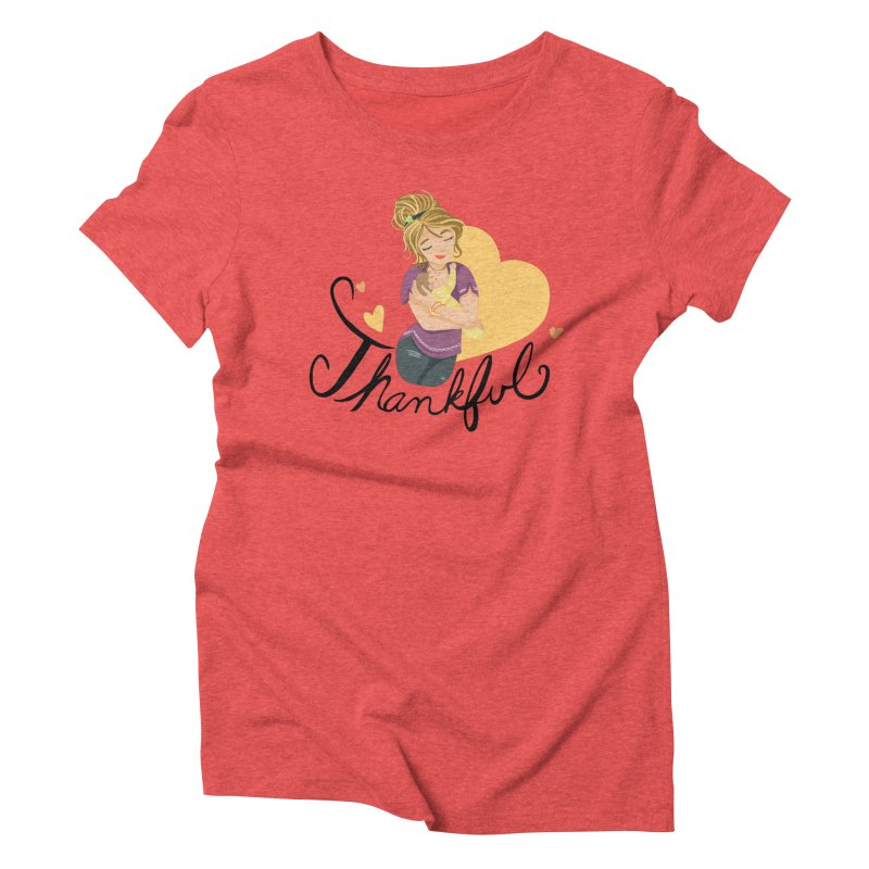 Tit for Tot - Thankful - Blonde Momma Women's Triblend T-Shirt by Tit for Tot