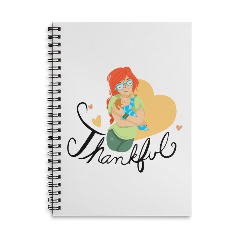Tit for Tot - Thankful - Hipster Momma Accessories Notebook by Tit for Tot