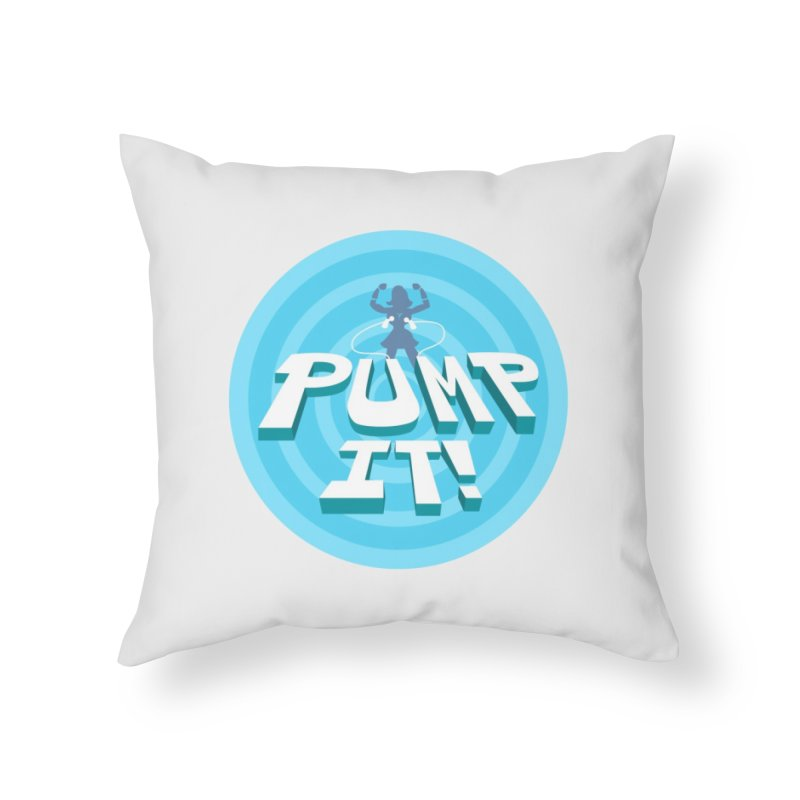 """Tit for Tot """"Pump It!"""" Home Throw Pillow by Tit for Tot"""