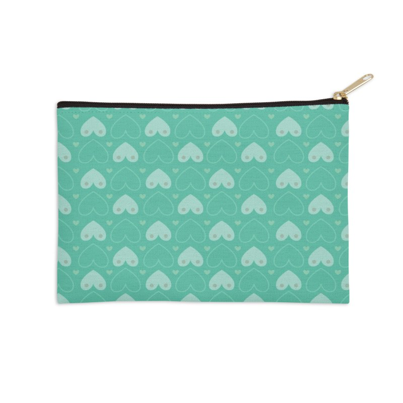Tit for Tot Emblem Pattern Accessories Zip Pouch by Tit for Tot