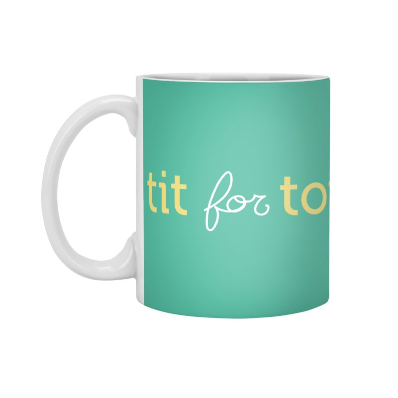 Tit for Tot Logo Text Accessories Standard Mug by Tit for Tot