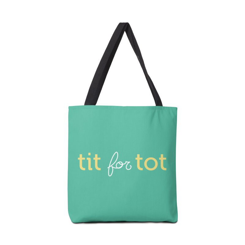 Tit for Tot Logo Text Accessories Tote Bag Bag by Tit for Tot