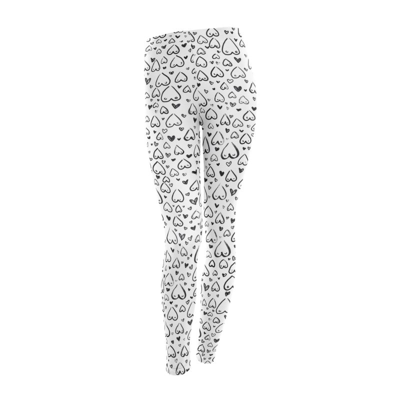 Tit for Tot - Sketch Hearts Pattern Women's Leggings Bottoms by Tit for Tot