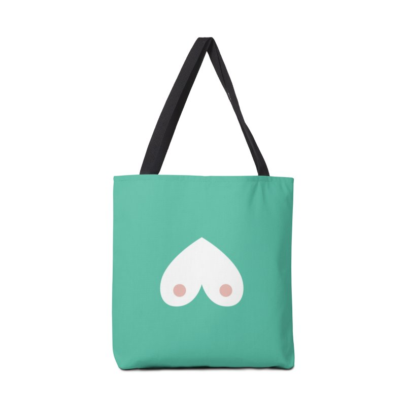 Tit for Tot Heart Emblem Accessories Tote Bag Bag by Tit for Tot