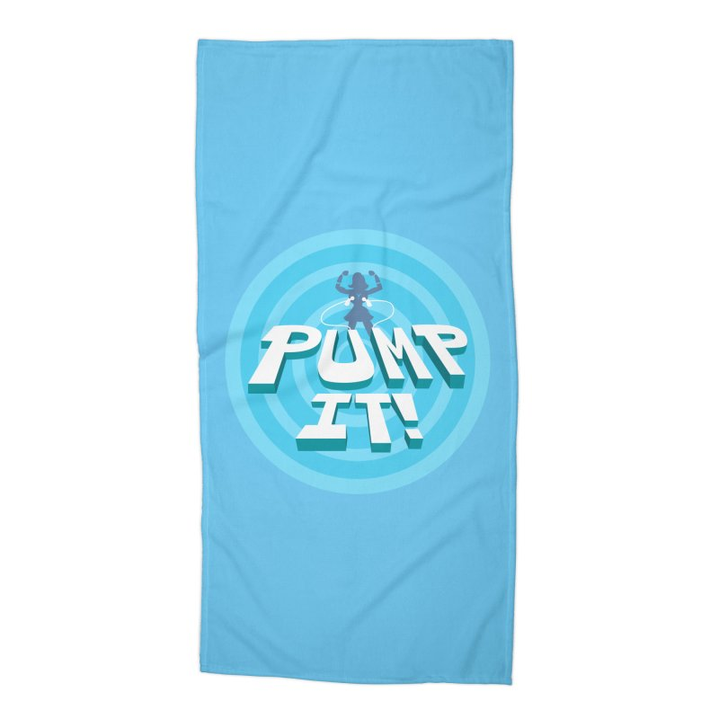 """Tit for Tot """"Pump It!"""" Accessories Beach Towel by Tit for Tot"""