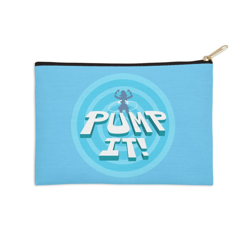 "Tit for Tot ""Pump It!"" Accessories Zip Pouch by Tit for Tot"