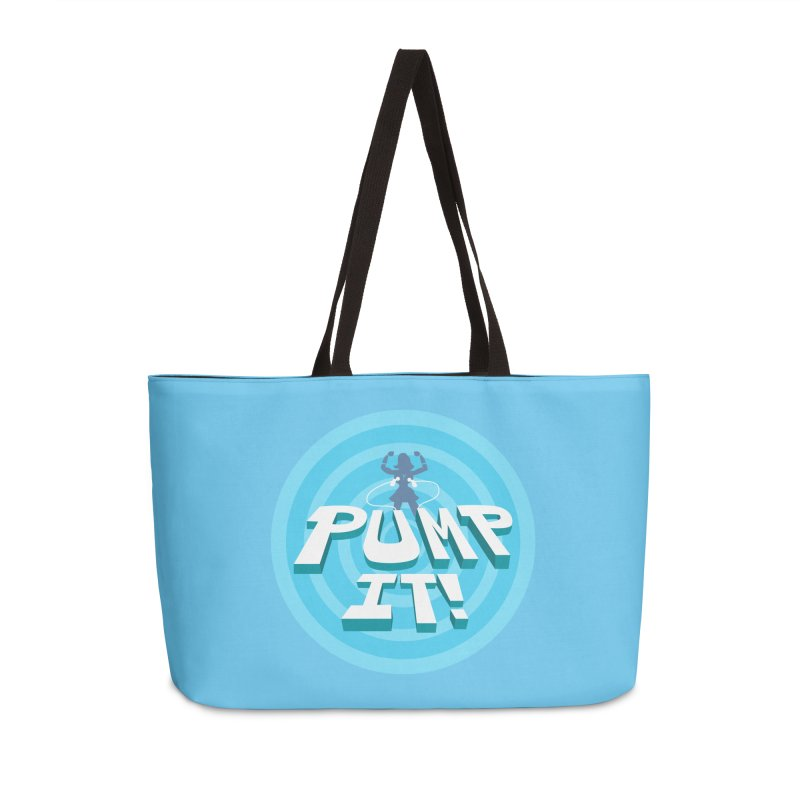 "Tit for Tot ""Pump It!"" Accessories Weekender Bag Bag by Tit for Tot"
