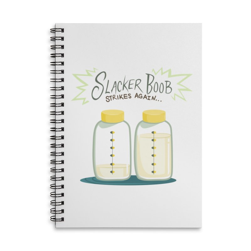 """Tit for Tot """"Slacker Boob"""" Accessories Lined Spiral Notebook by Tit for Tot"""