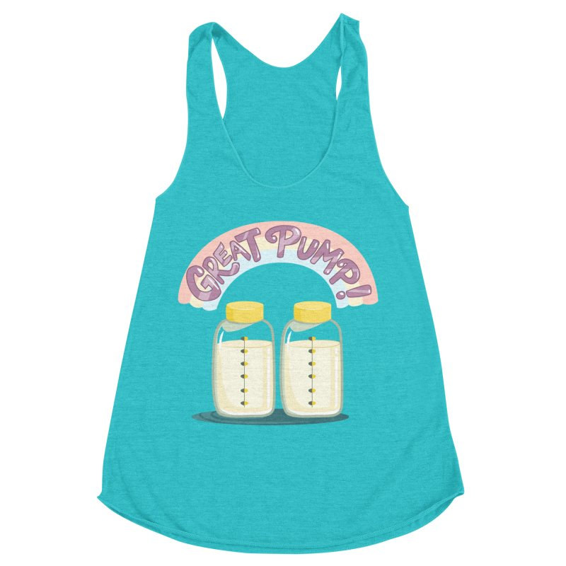 """Tit for Tot """"Great Pump!"""" Women's Racerback Triblend Tank by Tit for Tot"""