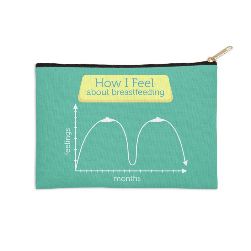 "Tit for Tot ""How I Feel About Breastfeeding"" Accessories Zip Pouch by Tit for Tot"