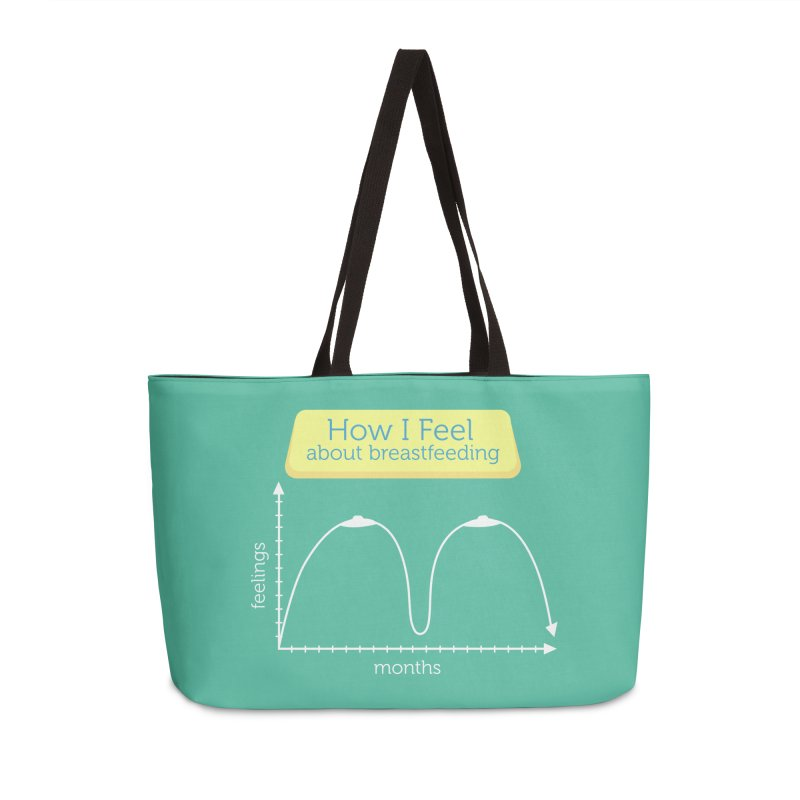 """Tit for Tot """"How I Feel About Breastfeeding"""" Accessories Weekender Bag Bag by Tit for Tot"""