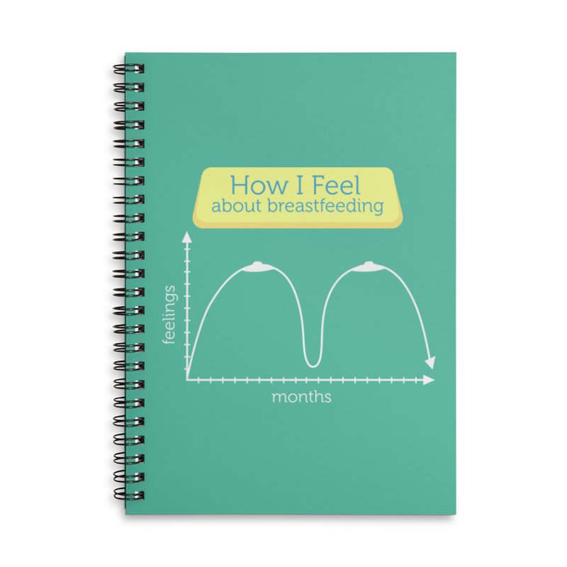 """Tit for Tot """"How I Feel About Breastfeeding"""" Accessories Lined Spiral Notebook by Tit for Tot"""