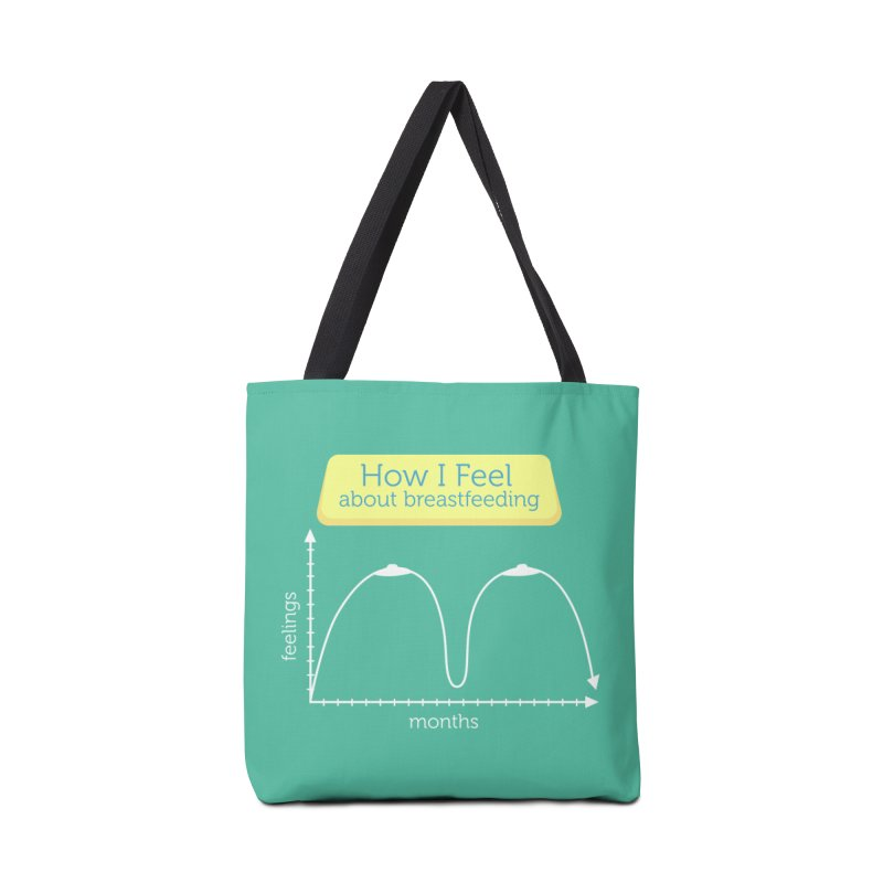 """Tit for Tot """"How I Feel About Breastfeeding"""" Accessories Tote Bag Bag by Tit for Tot"""