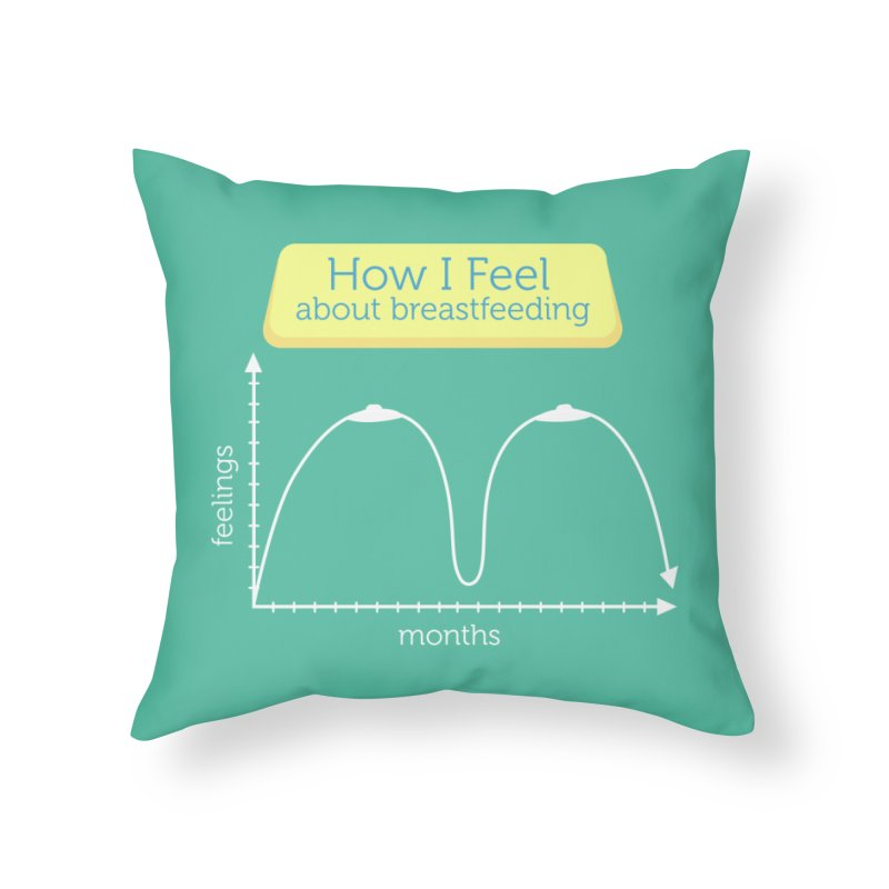 """Tit for Tot """"How I Feel About Breastfeeding"""" Home Throw Pillow by Tit for Tot"""