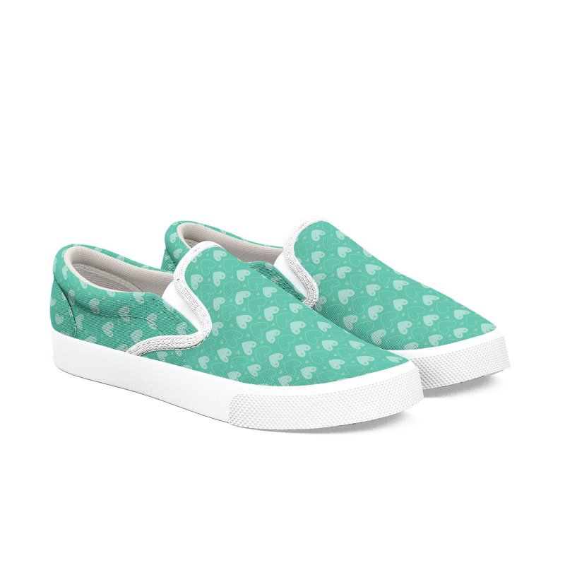 Tit for Tot Emblem Pattern Women's Slip-On Shoes by Tit for Tot