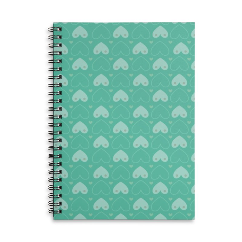 Tit for Tot Emblem Pattern Accessories Lined Spiral Notebook by Tit for Tot