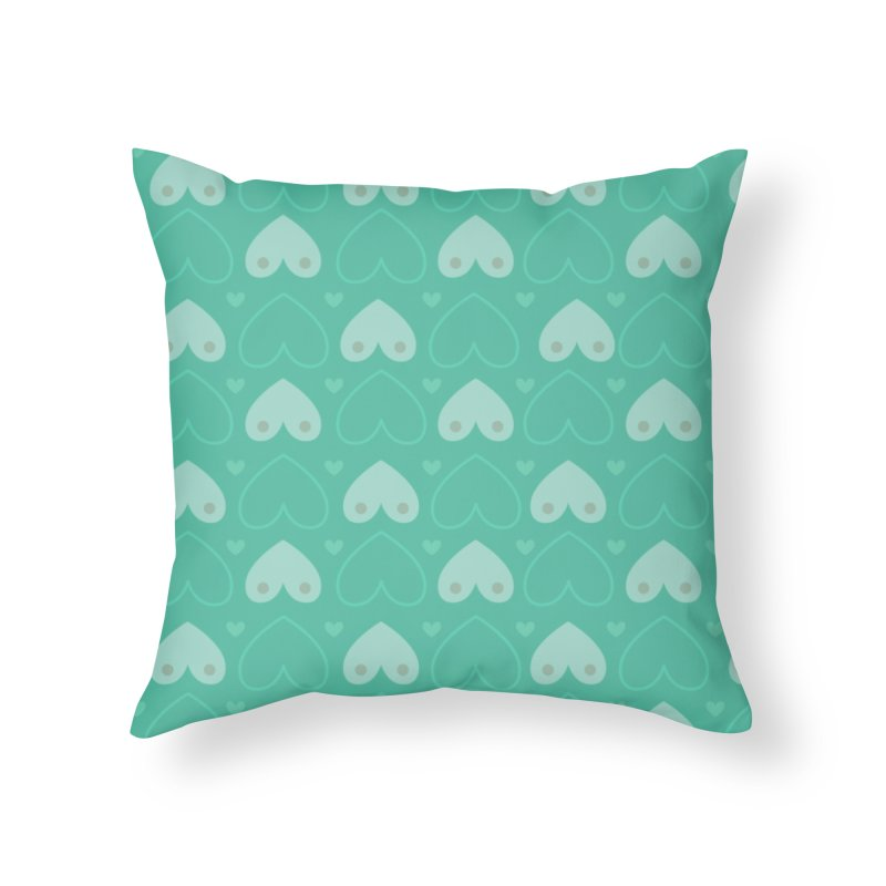 Tit for Tot Emblem Pattern Home Throw Pillow by Tit for Tot