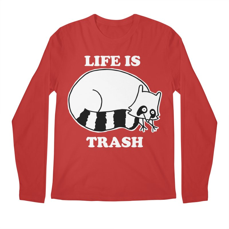 life is trash Men's Regular Longsleeve T-Shirt by Tittybats