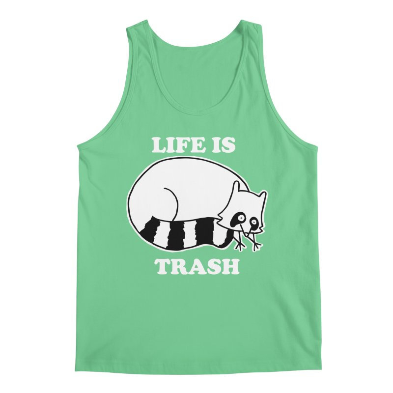 life is trash Men's Regular Tank by Tittybats