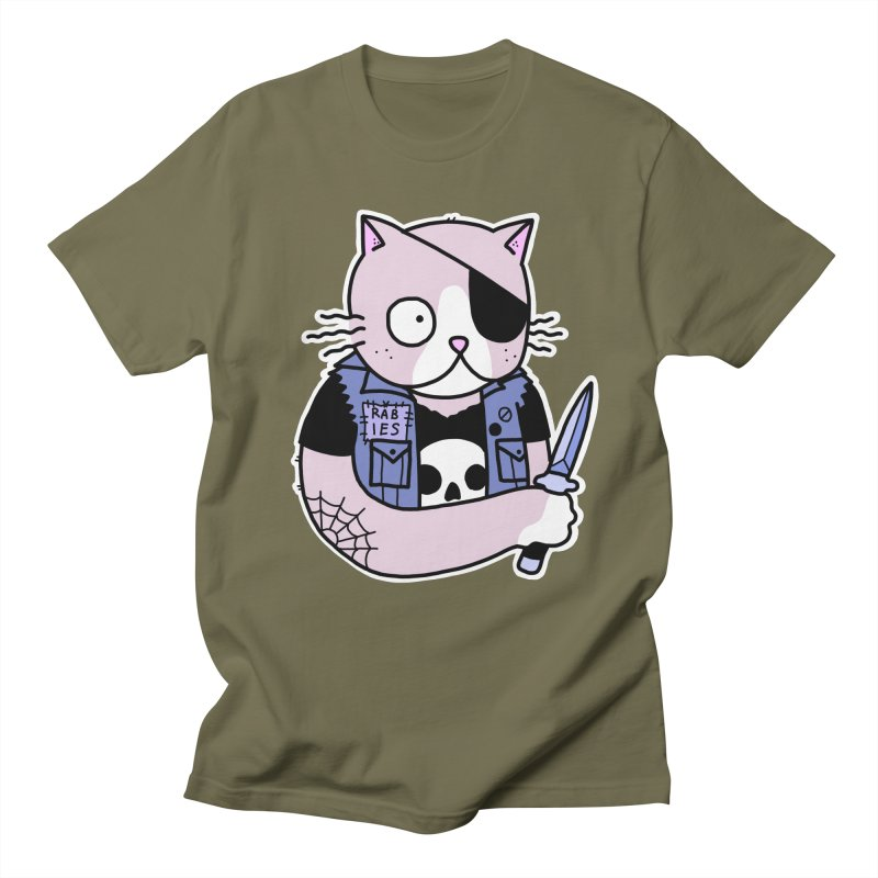 KNIFE CAT PINK Men's Regular T-Shirt by Tittybats