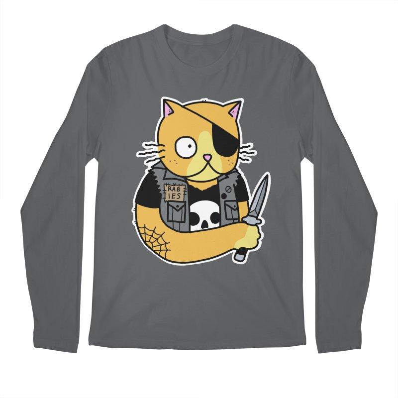 KNIFE CAT ORANGE Men's Regular Longsleeve T-Shirt by Tittybats's Artist Shop
