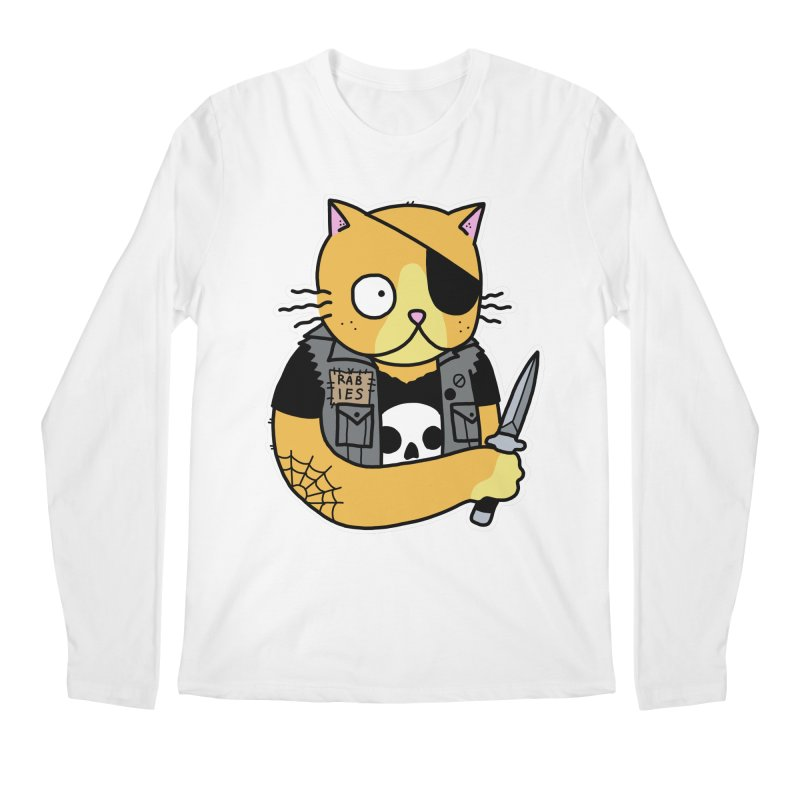 KNIFE CAT ORANGE Men's Regular Longsleeve T-Shirt by Tittybats