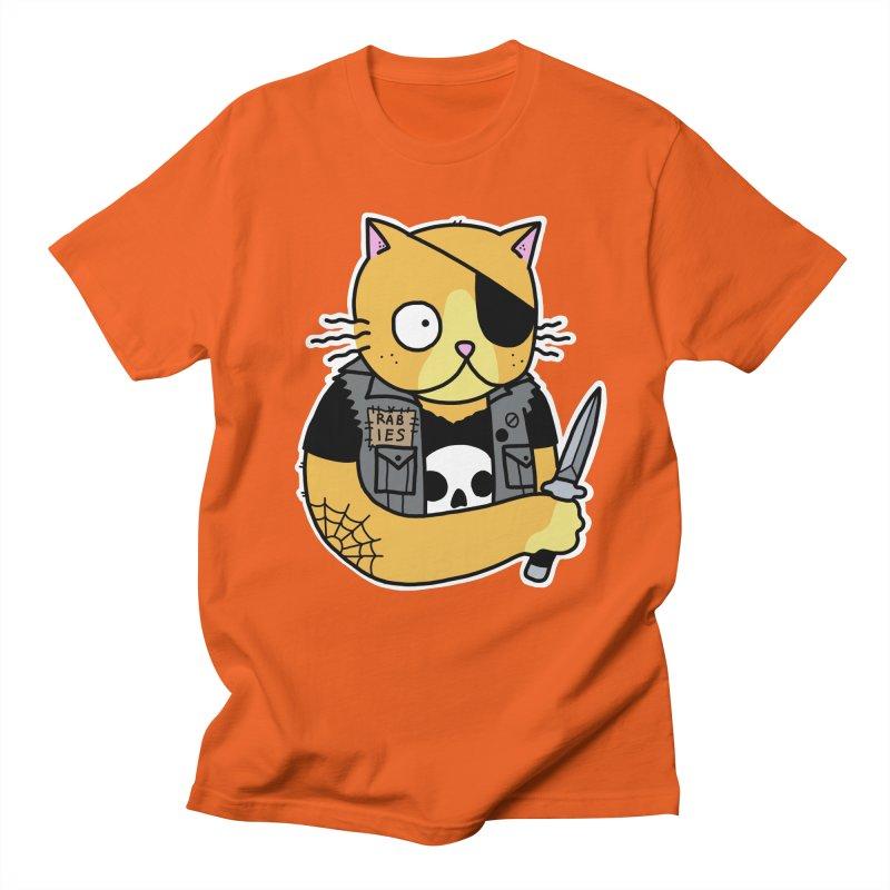 KNIFE CAT ORANGE Women's Regular Unisex T-Shirt by Tittybats's Artist Shop