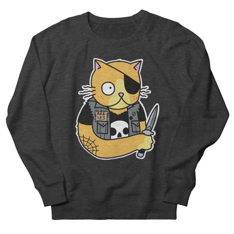 KNIFE CAT ORANGE Men's French Terry Sweatshirt by Tittybats's Artist Shop