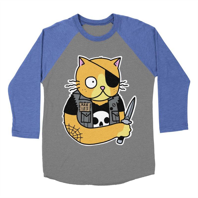 KNIFE CAT ORANGE Men's Baseball Triblend Longsleeve T-Shirt by Tittybats's Artist Shop
