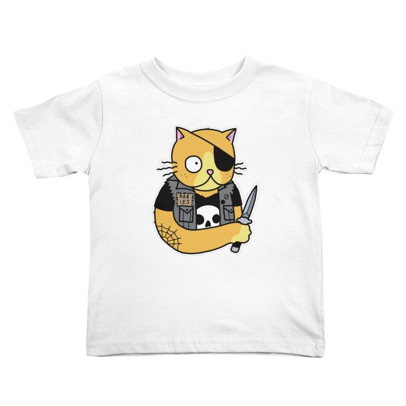 KNIFE CAT ORANGE Kids Toddler T-Shirt by Tittybats's Artist Shop