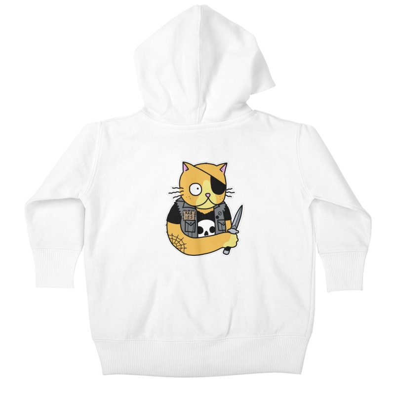 KNIFE CAT ORANGE Kids Baby Zip-Up Hoody by Tittybats's Artist Shop
