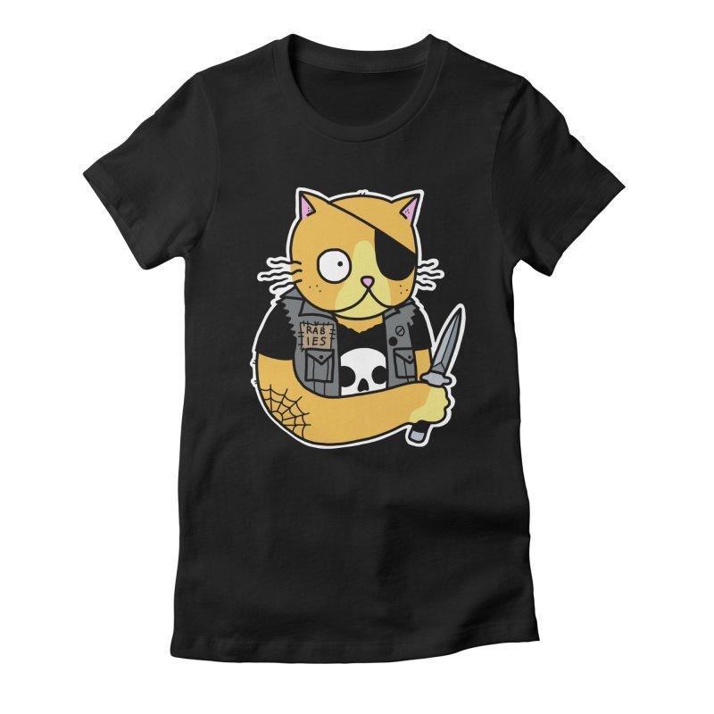 KNIFE CAT ORANGE Women's Fitted T-Shirt by Tittybats's Artist Shop