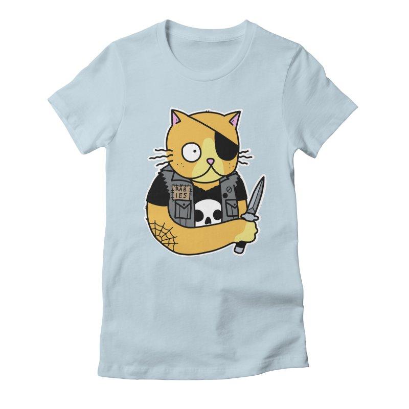 KNIFE CAT ORANGE Women's Fitted T-Shirt by Tittybats