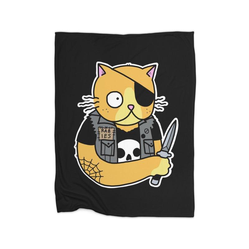 KNIFE CAT ORANGE Home Blanket by Tittybats's Artist Shop