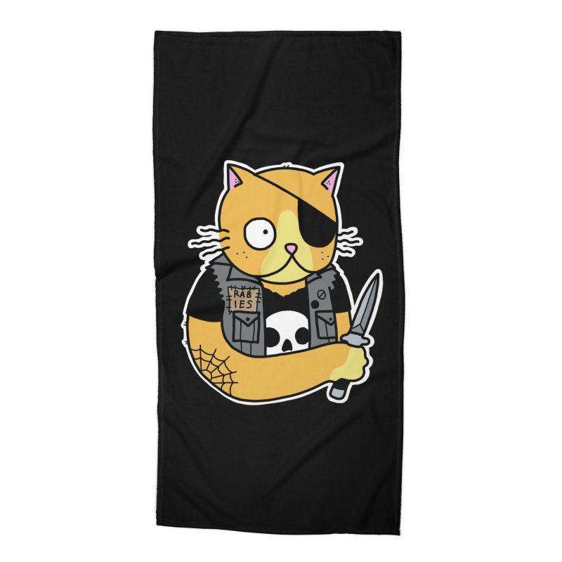 KNIFE CAT ORANGE Accessories Beach Towel by Tittybats's Artist Shop