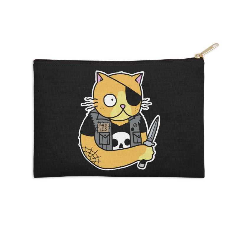 KNIFE CAT ORANGE Accessories Zip Pouch by Tittybats's Artist Shop