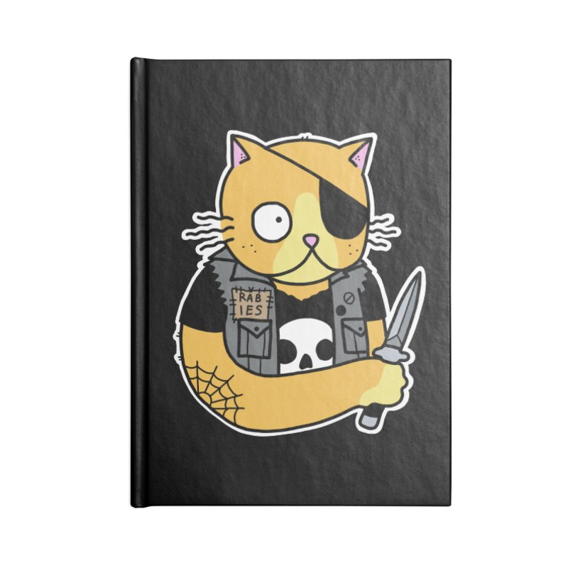 KNIFE CAT ORANGE Accessories Notebook by Tittybats's Artist Shop