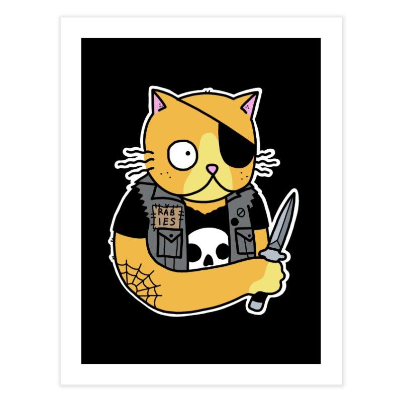 KNIFE CAT ORANGE Home Fine Art Print by Tittybats's Artist Shop