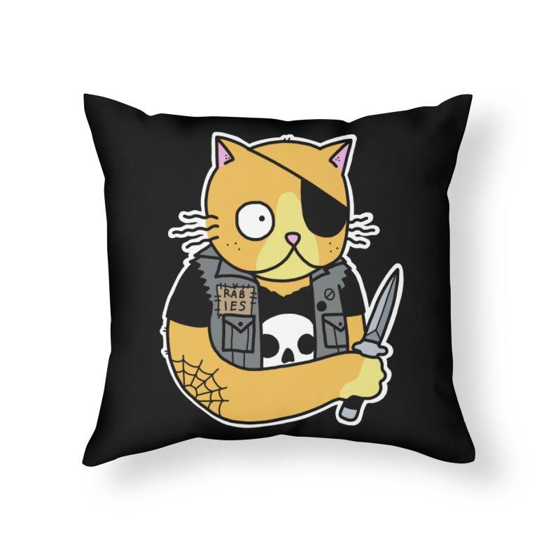 KNIFE CAT ORANGE Home Throw Pillow by Tittybats's Artist Shop