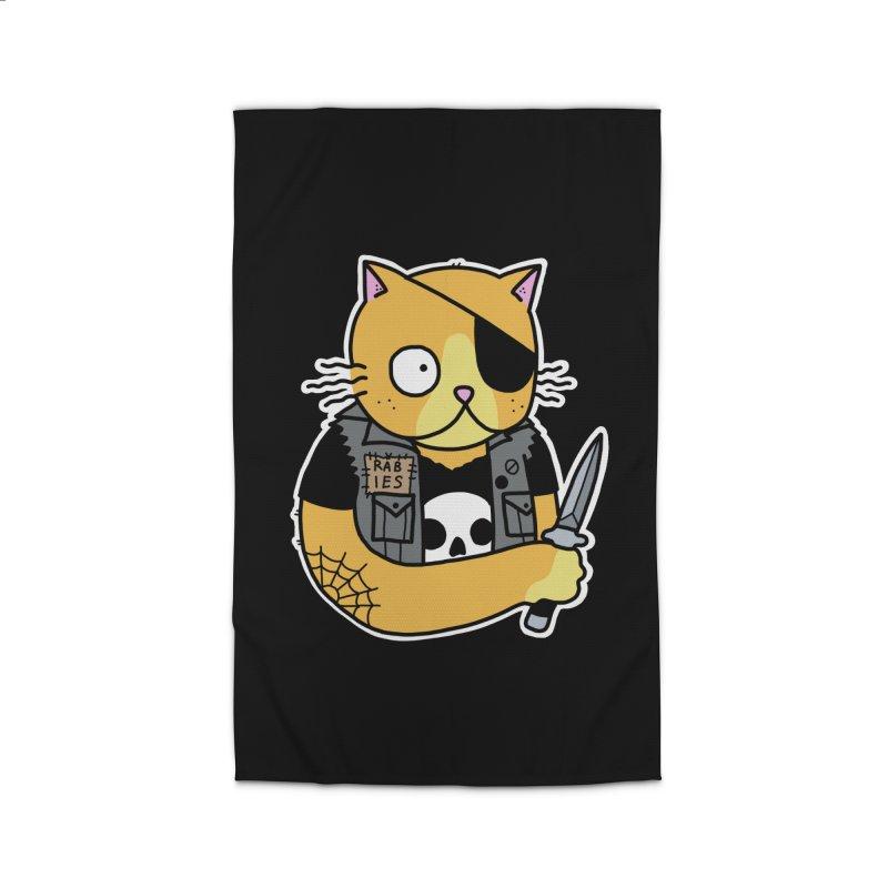 KNIFE CAT ORANGE Home Rug by Tittybats's Artist Shop