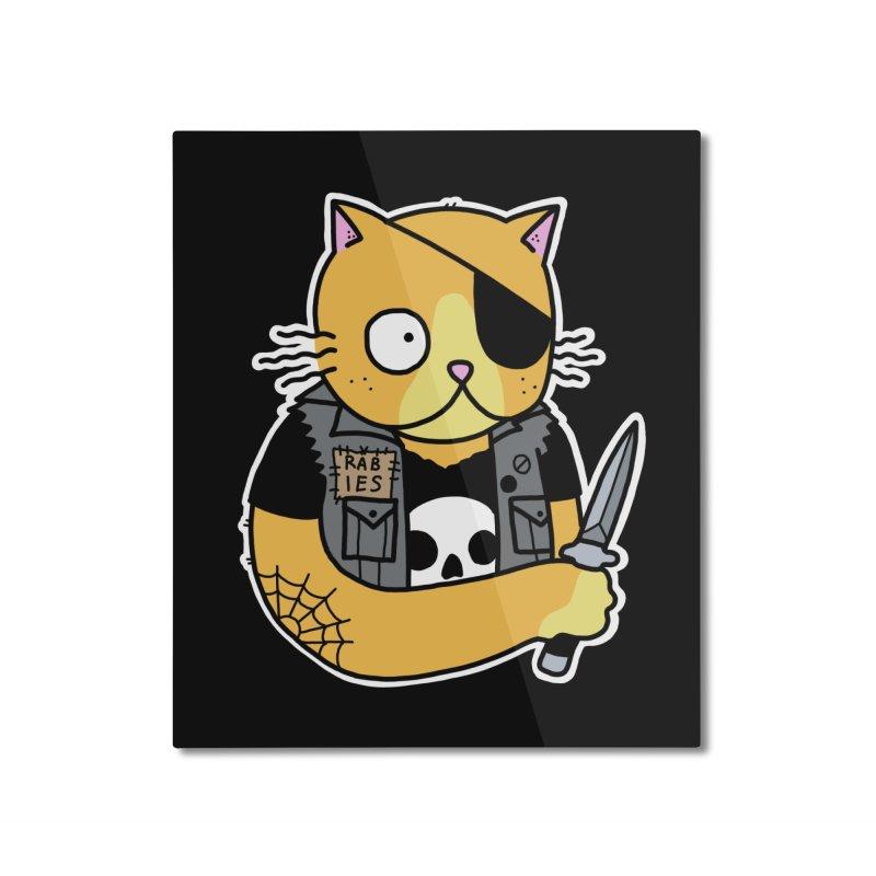 KNIFE CAT ORANGE Home Mounted Aluminum Print by Tittybats's Artist Shop