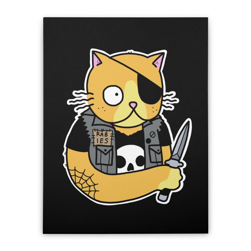 KNIFE CAT ORANGE Home Stretched Canvas by Tittybats's Artist Shop