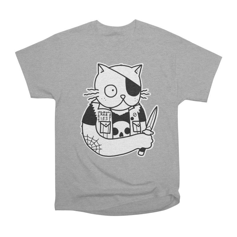 KNIFE CAT Men's Heavyweight T-Shirt by Tittybats's Artist Shop