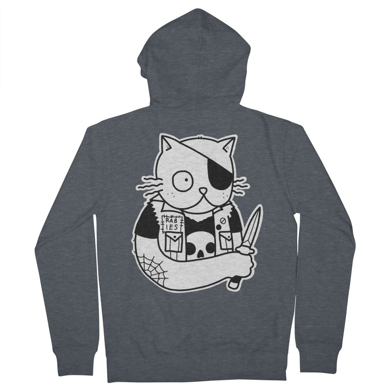 KNIFE CAT Women's French Terry Zip-Up Hoody by Tittybats's Artist Shop