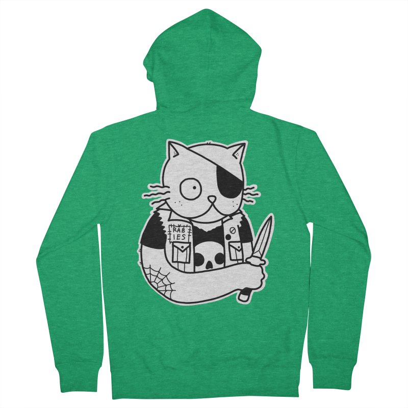 KNIFE CAT Men's French Terry Zip-Up Hoody by Tittybats