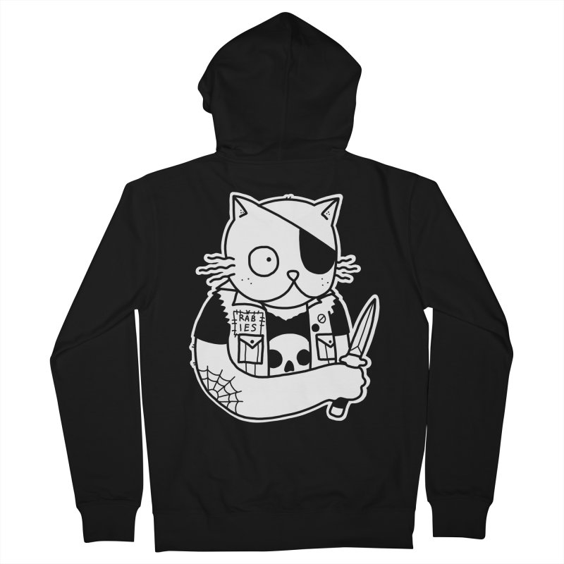KNIFE CAT Men's French Terry Zip-Up Hoody by Tittybats's Artist Shop