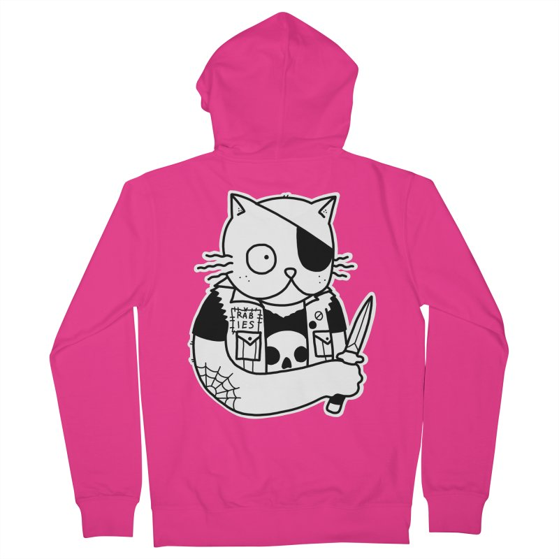 KNIFE CAT Men's Zip-Up Hoody by Tittybats